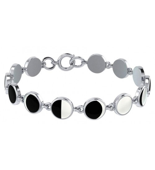 Magick Moon Phases Inlayed Bracelet at All Wicca Store Magickal Supplies, Wiccan Supplies, Wicca Books, Pagan Jewelry, Altar Statues