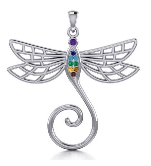 Dragonfly Charm Holder with Gemstones at All Wicca Store Magickal Supplies, Wiccan Supplies, Wicca Books, Pagan Jewelry, Altar Statues