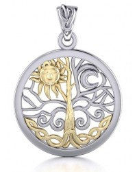 Tree of Life Sun and Moon Pendant All Wicca Store Magickal Supplies Wiccan Supplies, Wicca Books, Pagan Jewelry, Altar Statues