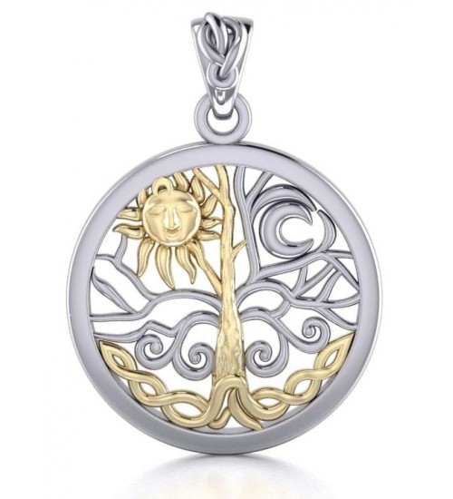 Tree of Life Sun and Moon Pendant at All Wicca Store Magickal Supplies, Wiccan Supplies, Wicca Books, Pagan Jewelry, Altar Statues
