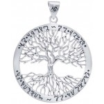 Wiccan Tree of Life Rune Pendant