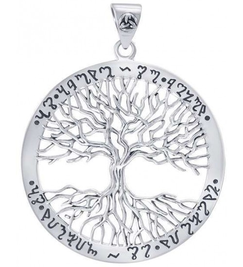 Wiccan Tree of Life Rune Pendant at All Wicca Supply Shop, Wiccan Supplies, All Wicca Books, Pagan Jewelry, Wiccan Altar Statues