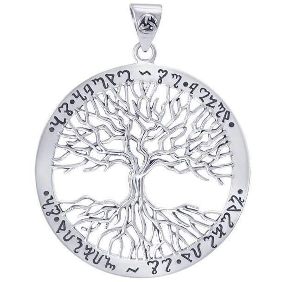 Wiccan Tree Of Life Silver Pendant By Mickie Mueller Pagan Jewelry