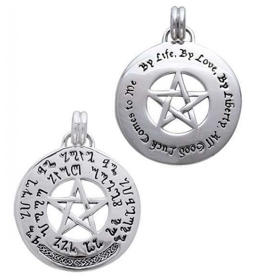 Theban Pentacl Prosperity Prayer Talisman at All Wicca Store Magickal Supplies, Wiccan Supplies, Wicca Books, Pagan Jewelry, Altar Statues