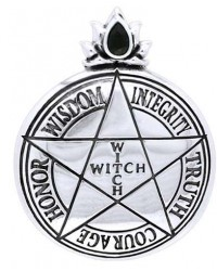 Witch Virtues Pentagram Sterling Silver Pendant All Wicca Store Magickal Supplies Wiccan Supplies, Wicca Books, Pagan Jewelry, Altar Statues