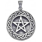 Pentagram Pentacle Pendant in Bronze or Sterling