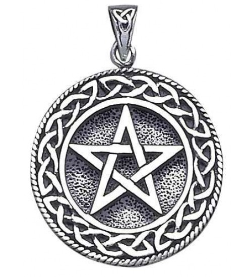 Pentagram Pentacle Pendant in Bronze or Sterling at All Wicca Store Magickal Supplies, Wiccan Supplies, Wicca Books, Pagan Jewelry, Altar Statues