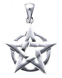 Pentacle Pendant in Sterling Silver All Wicca Magickal Supplies Wiccan Supplies, Wicca Books, Pagan Jewelry, Altar Statues