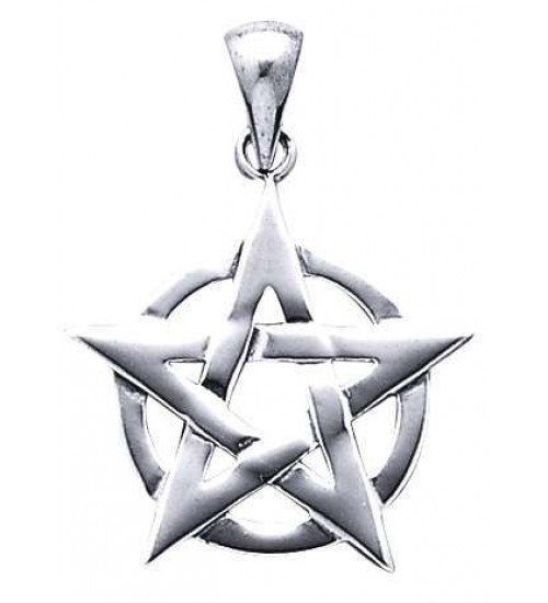 Pentacle Pendant in Sterling Silver at All Wicca Store Magickal Supplies, Wiccan Supplies, Wicca Books, Pagan Jewelry, Altar Statues