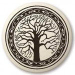 Sacred Tree of Life Porcelain Round Necklace