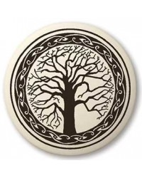 Sacred Tree of Life Porcelain Round Necklace All Wicca Store Magickal Supplies Wiccan Supplies, Wicca Books, Pagan Jewelry, Altar Statues