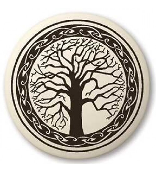 Sacred Tree of Life Porcelain Round Necklace at All Wicca Store Magickal Supplies, Wiccan Supplies, Wicca Books, Pagan Jewelry, Altar Statues