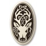 Stag - The Horned God Oval Porcelain Necklace