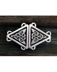 Celtic Triangular Knot Small Cloak Clasp All Wicca Store Magickal Supplies Wiccan Supplies, Wicca Books, Pagan Jewelry, Altar Statues