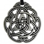 Celtic Peace Knot Pewter Necklace