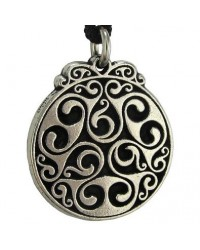 Triscele of Dana Spiral of Eternal Life Pewter Necklace All Wicca Store Magickal Supplies Wiccan Supplies, Wicca Books, Pagan Jewelry, Altar Statues