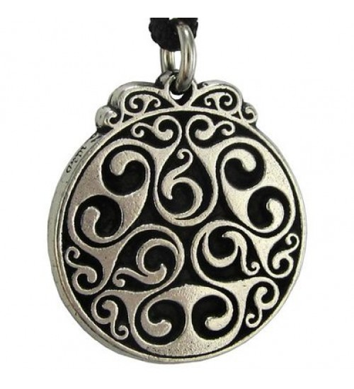 Triscele of Dana Spiral of Eternal Life Pewter Necklace at All Wicca Store Magickal Supplies, Wiccan Supplies, Wicca Books, Pagan Jewelry, Altar Statues