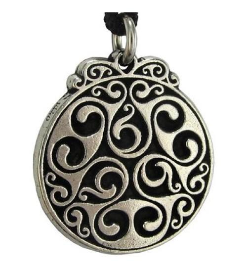 Triscele of Dana Spiral of Eternal Life Pewter Necklace