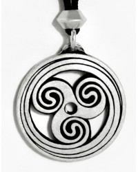 Celtic Spiral Pewter Necklace All Wicca Store Magickal Supplies Wiccan Supplies, Wicca Books, Pagan Jewelry, Altar Statues