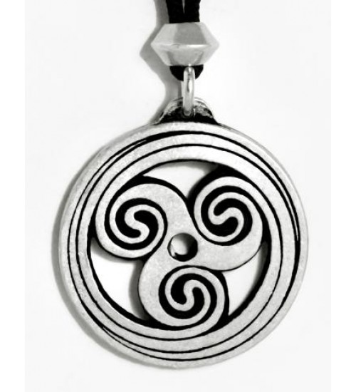Celtic Spiral Pewter Necklace at All Wicca Store Magickal Supplies, Wiccan Supplies, Wicca Books, Pagan Jewelry, Altar Statues