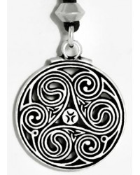 Triscele Celtic Spiral Pewter Necklace All Wicca Store Magickal Supplies Wiccan Supplies, Wicca Books, Pagan Jewelry, Altar Statues