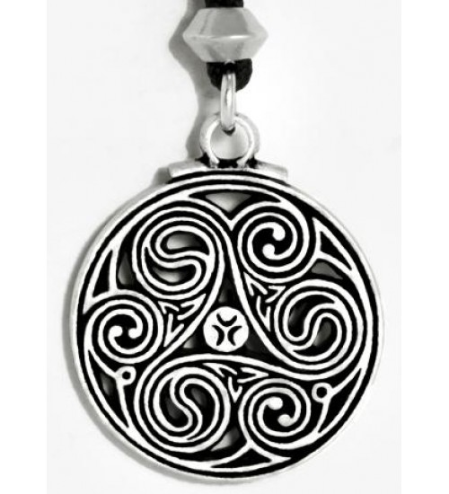 Triscele Celtic Spiral Pewter Necklace at All Wicca Store Magickal Supplies, Wiccan Supplies, Wicca Books, Pagan Jewelry, Altar Statues
