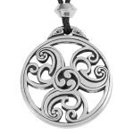 Celtic Triscele Spiral Pewter Necklace