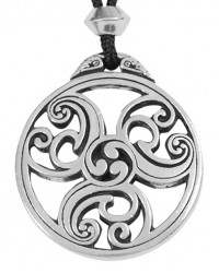 Celtic Triscele Spiral Pewter Necklace All Wicca Magickal Supplies Wiccan Supplies, Wicca Books, Pagan Jewelry, Altar Statues