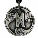 Dagaz - Rune of New Beginnings Pewter Talisman