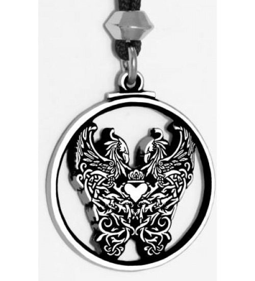 Double Phoenix Pewter Pendant at All Wicca Magickal Supplies, Wiccan Supplies, Wicca Books, Pagan Jewelry, Altar Statues