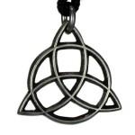 Fairy Shield Pewter Goddess Trinity Knot Pendant