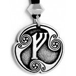 Fehu - Rune of Prosperity Pewter Talisman