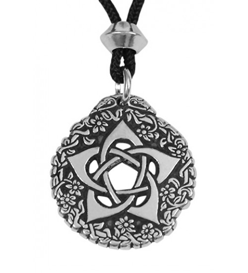 Pentacle of the Goddess Small Pewter Necklace at All Wicca Store Magickal Supplies, Wiccan Supplies, Wicca Books, Pagan Jewelry, Altar Statues