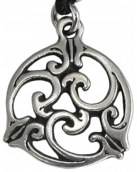 Triscele Celtic Spiral Pewter Necklace in 2 Sizes All Wicca Store Magickal Supplies Wiccan Supplies, Wicca Books, Pagan Jewelry, Altar Statues
