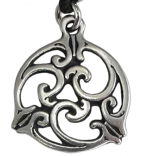 Triscele Celtic Spiral Pewter Necklace in 2 Sizes at All Wicca Magical Supplies, Wiccan Supplies, Wicca Books, Pagan Jewelry, Altar Statues