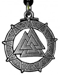 The Valknut Viking Rune Necklace All Wicca Magickal Supplies Wiccan Supplies, Wicca Books, Pagan Jewelry, Altar Statues