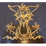 Triple Dragon Moon Bronze Draconian Wiccan Circlet
