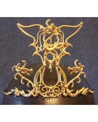 Triple Dragon Moon Bronze Draconian Wiccan Circlet All Wicca Store Magickal Supplies Wiccan Supplies, Wicca Books, Pagan Jewelry, Altar Statues