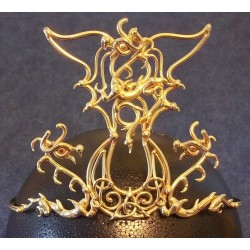 Triple Dragon Moon Bronze Draconian Wiccan Circlet All Wicca Wiccan Altar Supplies, Books, Jewelry, Statues
