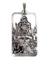 The Chariot Small Tarot Pendant All Wicca Store Magickal Supplies Wiccan Supplies, Wicca Books, Pagan Jewelry, Altar Statues