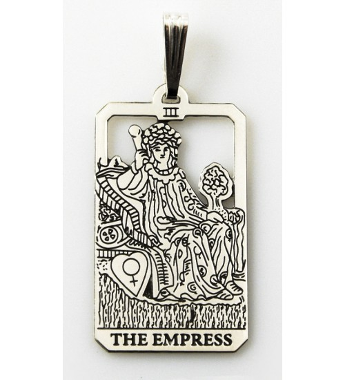 The Empress Small Tarot Pendant at All Wicca Store Magickal Supplies, Wiccan Supplies, Wicca Books, Pagan Jewelry, Altar Statues