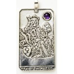 Empress Large Gemstone Tarot Pendant