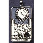 The Moon Large Gemstone Tarot Pendant