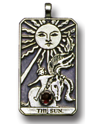 The Sun Large Gemstone Tarot Pendant All Wicca Store Magickal Supplies Wiccan Supplies, Wicca Books, Pagan Jewelry, Altar Statues