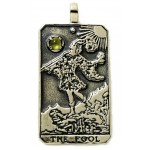 The Fool Large Gemstone Tarot Pendant
