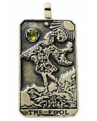 The Fool Large Gemstone Tarot Pendant All Wicca Store Magickal Supplies Wiccan Supplies, Wicca Books, Pagan Jewelry, Altar Statues