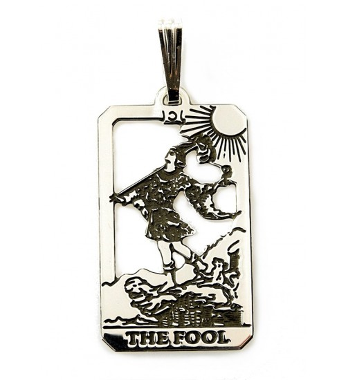 The Fool Small Tarot Pendant at All Wicca Store Magickal Supplies, Wiccan Supplies, Wicca Books, Pagan Jewelry, Altar Statues