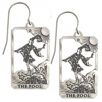 The Fool Small Tarot Card Earrings | Sterling Silver Tarot Jewelry