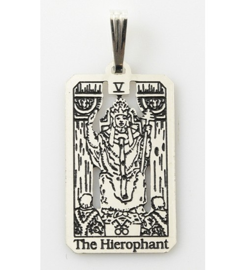 The Hierophant Small Tarot Pendant at All Wicca Store Magickal Supplies, Wiccan Supplies, Wicca Books, Pagan Jewelry, Altar Statues