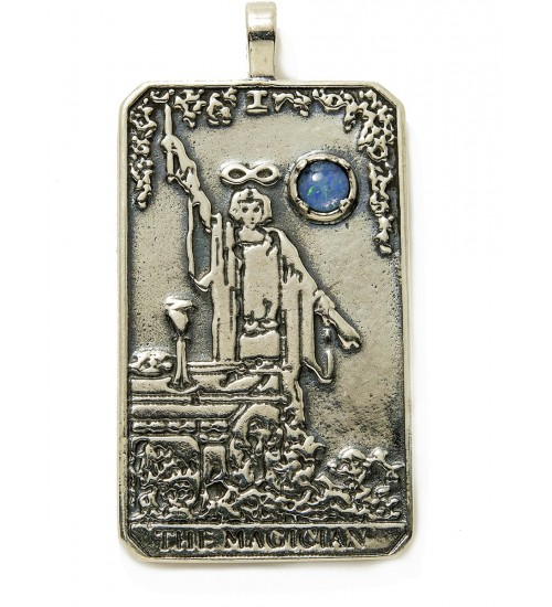 Magician Large Gemstone Tarot Pendant at All Wicca Store Magickal Supplies, Wiccan Supplies, Wicca Books, Pagan Jewelry, Altar Statues